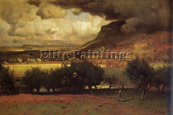 GEORGE INNESS THE COMING STORM 1878 ARTIST PAINTING REPRODUCTION HANDMADE OIL
