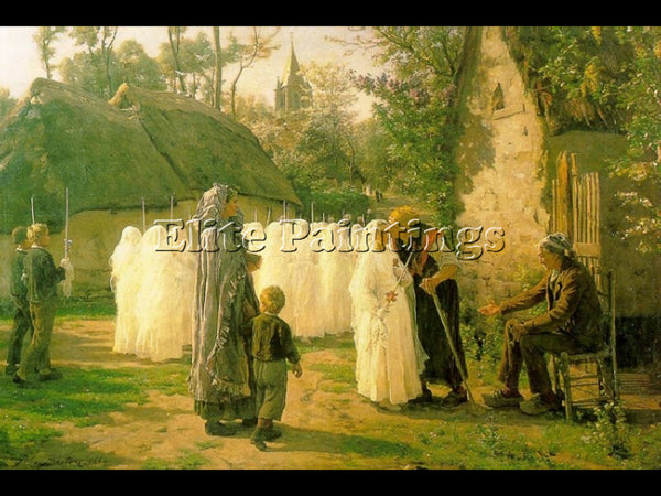 JULES BRETON THE COMMUNICANTS ARTIST PAINTING REPRODUCTION HANDMADE CANVAS REPRO
