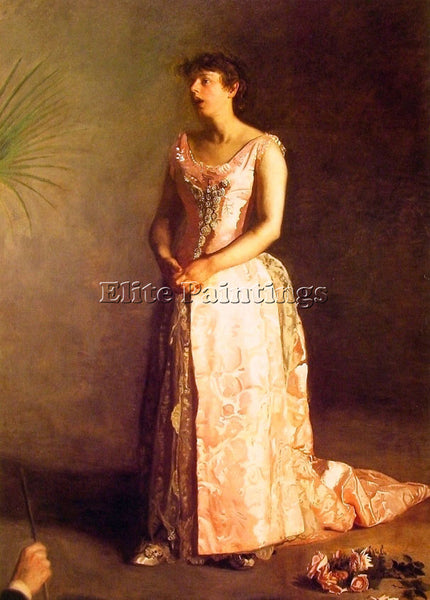 THOMAS EAKINS THE CONCERT SINGER ARTIST PAINTING REPRODUCTION HANDMADE OIL REPRO