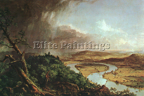 THOMAS COLE THE CONNECTICUT RIVER NEAR NORTHAMPTON ARTIST PAINTING REPRODUCTION