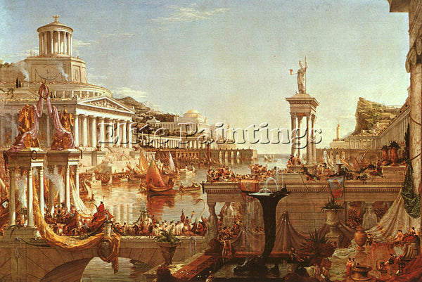 THOMAS COLE THE CONSUMMATION FROM THE SERIES THE COURSE OF THE EMPIRE ARTIST OIL