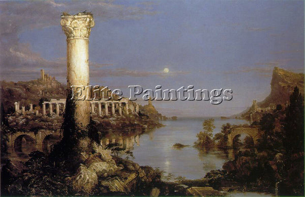 THOMAS COLE THE COURSE OF EMPIRE DESOLATION ATC ARTIST PAINTING REPRODUCTION OIL