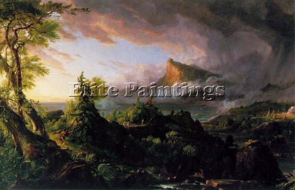 THOMAS COLE THE COURSE OF EMPIRE THE SAVAGE STATE ATC ARTIST PAINTING HANDMADE