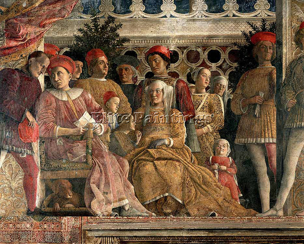 ANDREA MANTEGNA THE COURT OF MANTUA ARTIST PAINTING REPRODUCTION HANDMADE OIL