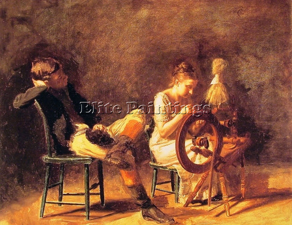 THOMAS EAKINS THE COURTSHIP ARTIST PAINTING REPRODUCTION HANDMADE OIL CANVAS ART