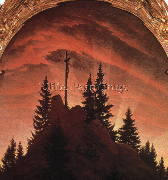 CASPAR DAVID FRIEDRICH THE CROSS IN THE MOUNTAINS ARTIST PAINTING REPRODUCTION