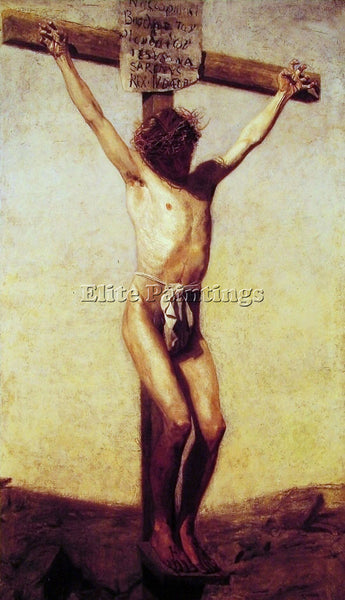 THOMAS EAKINS THE CRUCIFIXION ARTIST PAINTING REPRODUCTION HANDMADE CANVAS REPRO