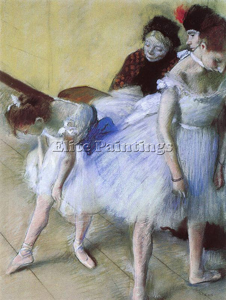 EDGAR DEGAS THE DANCE EXAMINATION ARTIST PAINTING REPRODUCTION HANDMADE OIL DECO