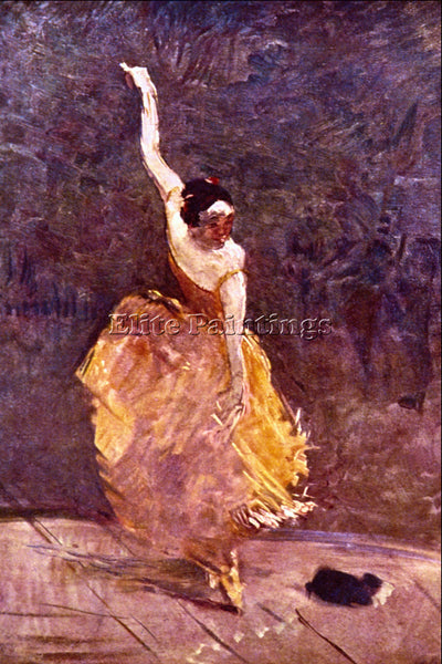 TOULOUSE-LAUTREC THE DANCING GIRL ARTIST PAINTING REPRODUCTION HANDMADE OIL DECO