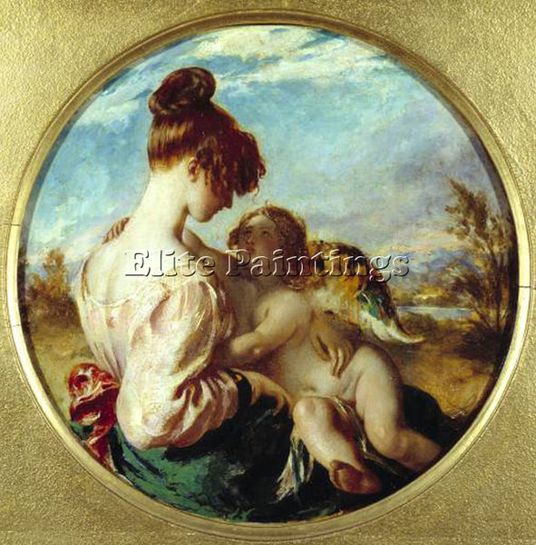 WILLIAM ETTY THE DANGEROUS PLAYMATE ARTIST PAINTING REPRODUCTION HANDMADE OIL