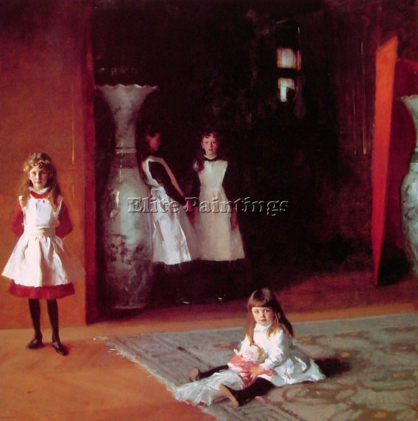 JOHN SINGER SARGENT THE DAUGHTERS OF EDWARD DARLEY BOIT ARTIST PAINTING HANDMADE