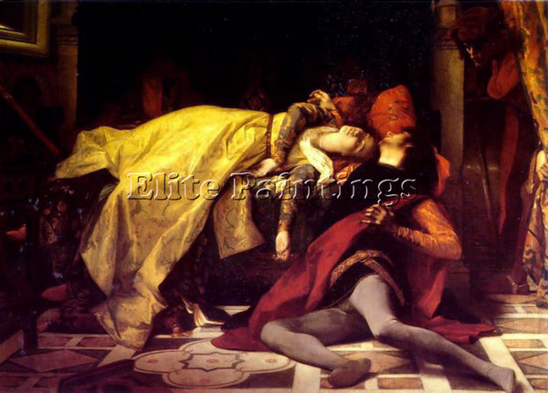 ALEXANDRE CABANEL THE DEATH FRANCESCA DE RIMINI AND PAOLO MALATESTA PAINTING OIL