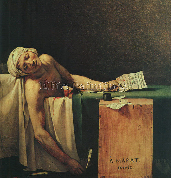 JACQUES-LOUIS DAVID THE DEATH OF MARAT CGF ARTIST PAINTING REPRODUCTION HANDMADE