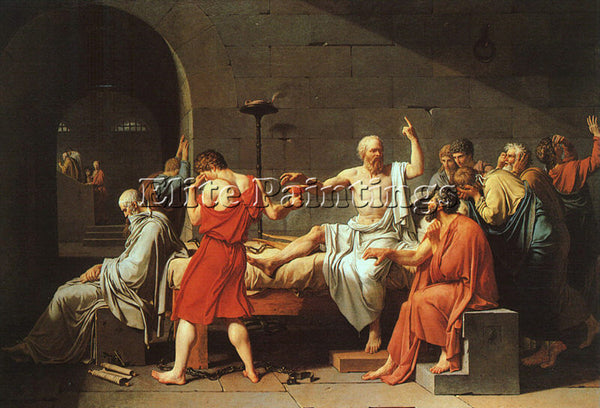 JACQUES-LOUIS DAVID THE DEATH OF SOCRATES CGF ARTIST PAINTING REPRODUCTION OIL
