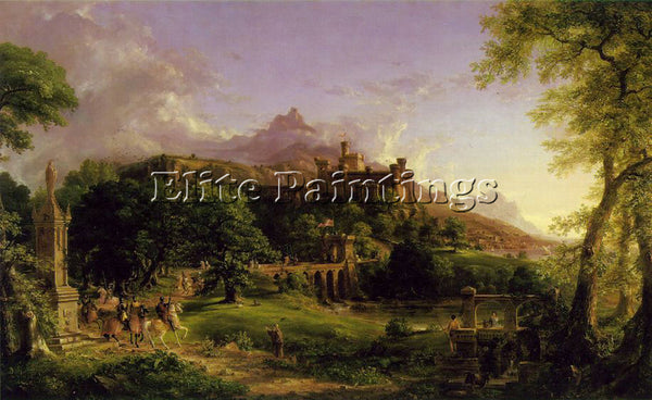 THOMAS COLE THE DEPARTURE ATC ARTIST PAINTING REPRODUCTION HANDMADE CANVAS REPRO