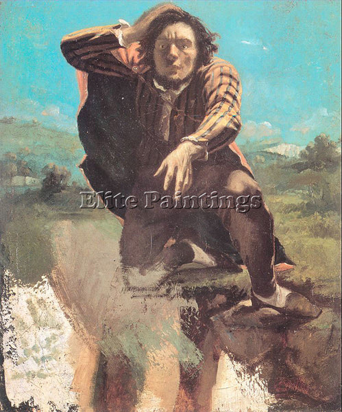 GUSTAVE COURBET THE DESPERATE MAN THE MAN MADE BY FEAR ARTIST PAINTING HANDMADE
