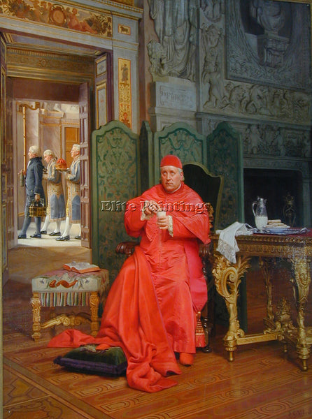 JEHAN GEORGES VIBERT THE DIET ARTIST PAINTING REPRODUCTION HANDMADE CANVAS REPRO