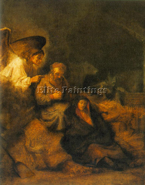 REMBRANDT THE DREAM OF ST JOSEPH ARTIST PAINTING REPRODUCTION HANDMADE OIL REPRO