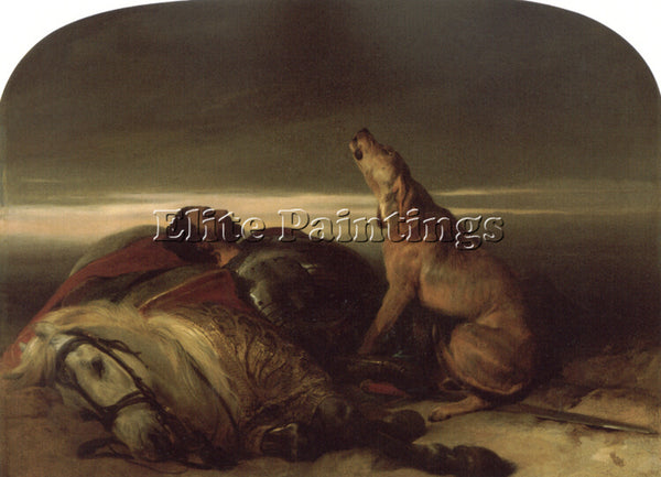 SIR EDWIN HENRY LANDSEER THE FAITHFUL HOUND ARTIST PAINTING HANDMADE OIL CANVAS