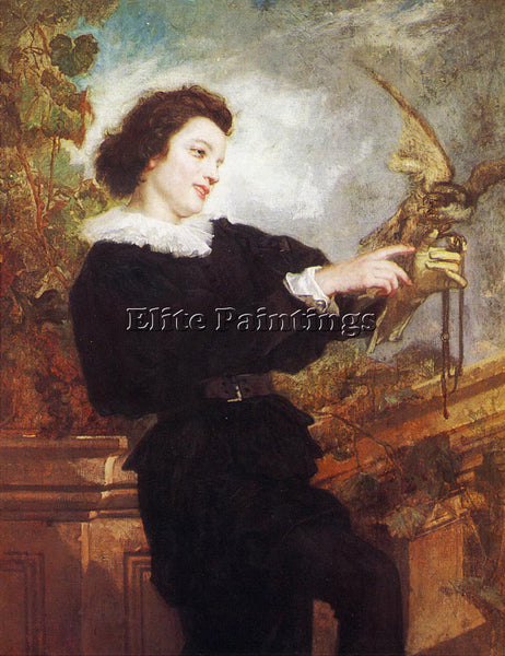 THOMAS COUTURE THE FALCONER ARTIST PAINTING REPRODUCTION HANDMADE OIL CANVAS ART