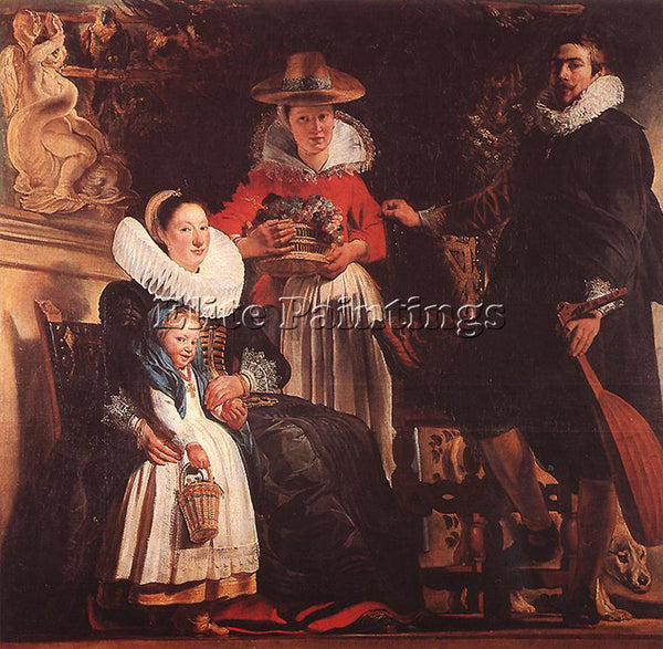 JACOB JORDAENS THE FAMILY OF THE ARTIST ARTIST PAINTING REPRODUCTION HANDMADE