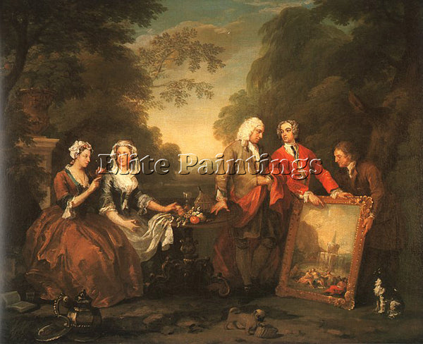 WILLIAM HOGARTH THE FOUNTAINE FAMILY ARTIST PAINTING REPRODUCTION HANDMADE OIL
