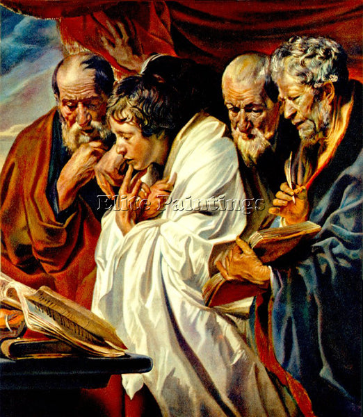 JACOB JORDAENS THE FOUR EVANGELISTS ARTIST PAINTING REPRODUCTION HANDMADE OIL