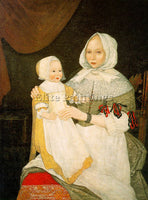 AMERICAN THE FREAKE LIMNER AMERICAN ACTIVE 1670S ARTIST PAINTING HANDMADE CANVAS