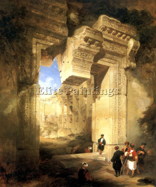 DAVID ROBERTS THE GATEWAY OF THE GREAT TEMPLE AT BAALBEC ARTIST PAINTING CANVAS