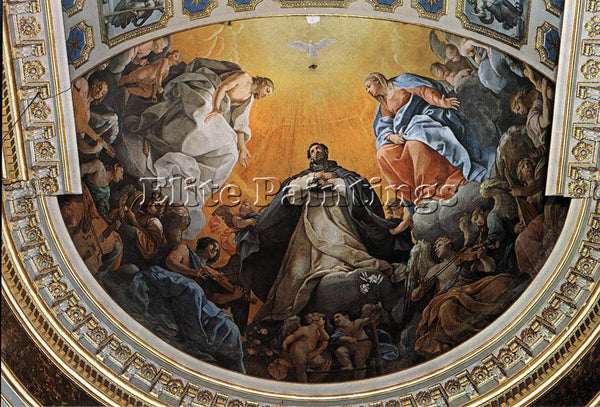 GUIDO RENI THE GLORY OF ST DOMINIC 1 ARTIST PAINTING REPRODUCTION HANDMADE OIL