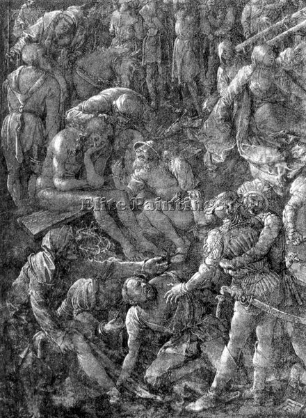 DURER THE GREAT CALVARY DETAIL 1  ARTIST PAINTING REPRODUCTION HANDMADE OIL DECO