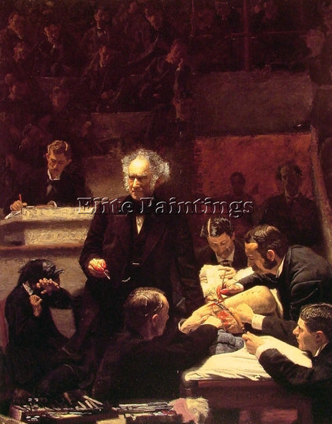 THOMAS EAKINS THE GROSS CLINIC ARTIST PAINTING REPRODUCTION HANDMADE OIL CANVAS