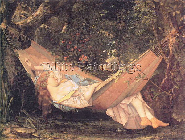 GUSTAVE COURBET THE HAMMOCK ARTIST PAINTING REPRODUCTION HANDMADE OIL CANVAS ART