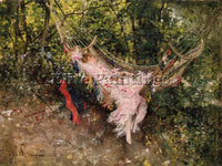 GIOVANNI BOLDINI THE HAMMOCK ARTIST PAINTING REPRODUCTION HANDMADE CANVAS REPRO