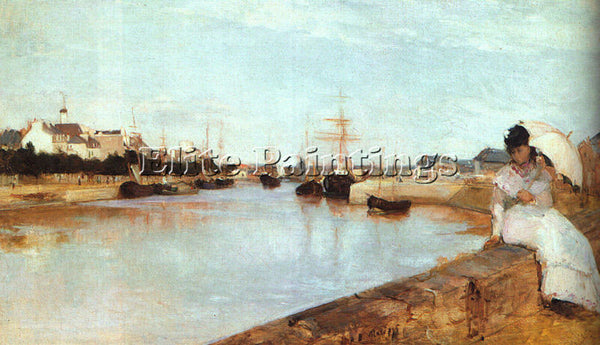 BERTHE MORISOT THE HARBOR AT LORIENT ARTIST PAINTING REPRODUCTION HANDMADE OIL