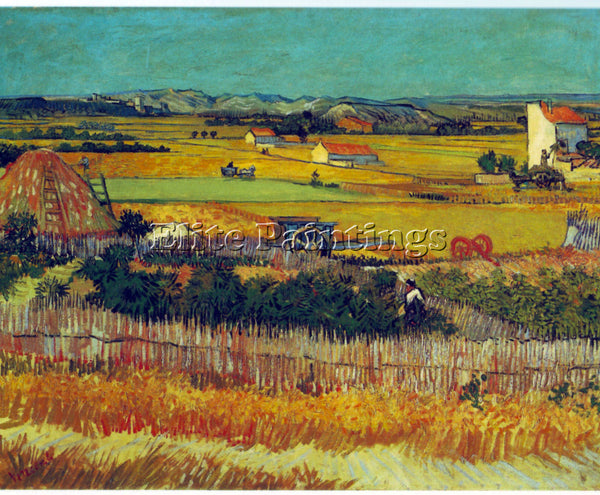 VAN GOGH THE HARVEST ARLES BY VANGOGH 2 ARTIST PAINTING REPRODUCTION HANDMADE