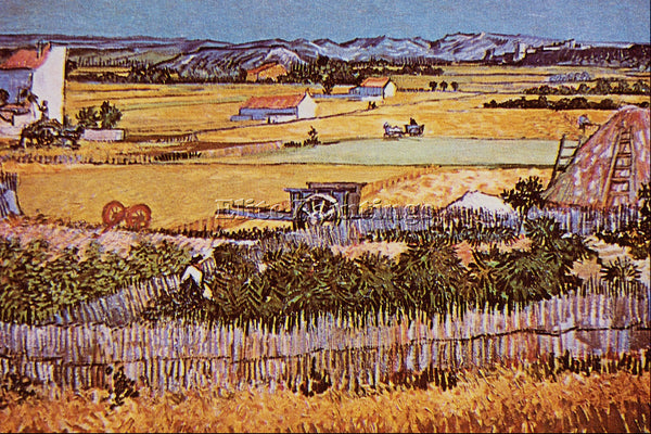 VAN GOGH THE HARVEST 2 ARTIST PAINTING REPRODUCTION HANDMADE CANVAS REPRO WALL