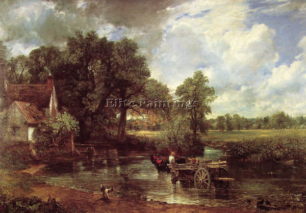 JOHN CONSTABLE THE HAY WAIN ARTIST PAINTING REPRODUCTION HANDMADE OIL CANVAS ART