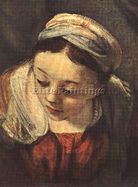REMBRANDT THE HOLY FAMILY DETAIL ARTIST PAINTING REPRODUCTION HANDMADE OIL REPRO