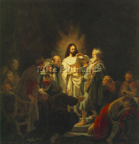REMBRANDT THE INCREDULITY OF ST THOMAS ARTIST PAINTING REPRODUCTION HANDMADE OIL