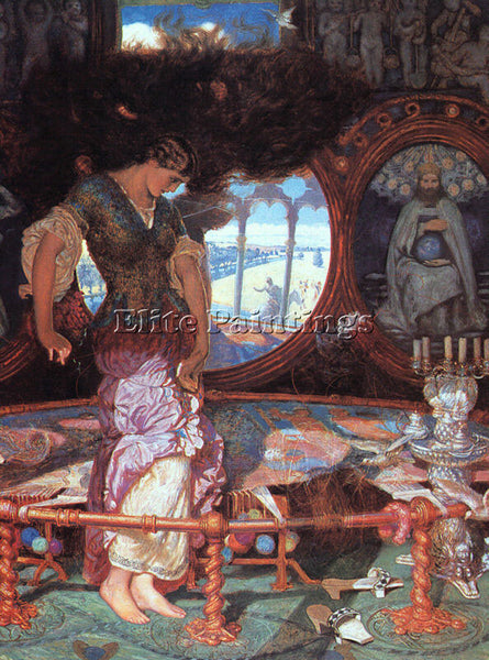 WILLIAM HOLMAN HUNT THE LADY OF SHALOTT ARTIST PAINTING REPRODUCTION HANDMADE