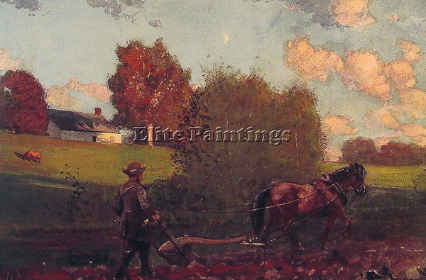 WINSLOW HOMER THE LAST FURROW ARTIST PAINTING REPRODUCTION HANDMADE CANVAS REPRO