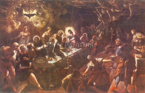 JACOPO ROBUSTI TINTORETTO THE LAST SUPPER ARTIST PAINTING REPRODUCTION HANDMADE