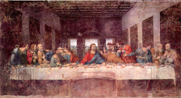 LEONARDO DA VINCI THE LAST SUPPER ARTIST PAINTING REPRODUCTION HANDMADE OIL DECO