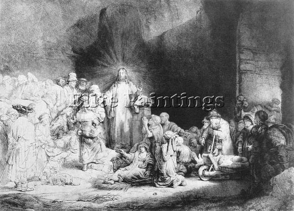 REMBRANDT THE LITTLE CHILDREN BEING BROUGHT TO JESUS ARTIST PAINTING HANDMADE