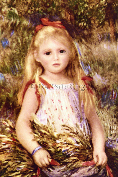 RENOIR THE LITTLE GLEANER ARTIST PAINTING REPRODUCTION HANDMADE OIL CANVAS REPRO