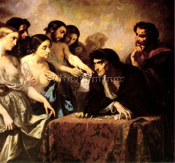 THOMAS COUTURE THE LOVE OF GOLD ARTIST PAINTING REPRODUCTION HANDMADE OIL CANVAS