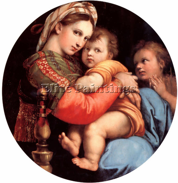 RAPHAEL THE MADONNA OF THE CHAIR ARTIST PAINTING REPRODUCTION HANDMADE OIL REPRO