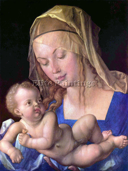 DURER THE MADONNA WITH THE PEAR SLICES ARTIST PAINTING REPRODUCTION HANDMADE OIL