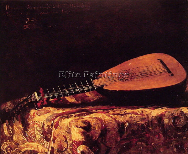 FERDINAND ROYBET THE MANDOLIN ARTIST PAINTING REPRODUCTION HANDMADE CANVAS REPRO